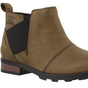 Womens Sorel Emelie Chelsea Waterproof Ankle Boots